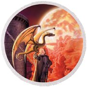 Dragon Lord Round Beach Towel