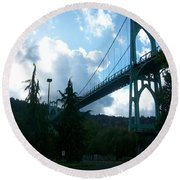 Dramatic St. Johns Round Beach Towel