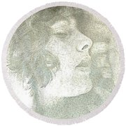 Round Beach Towel featuring the photograph Dreaming by Rory Sagner