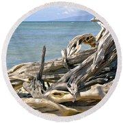 Driftwood II Round Beach Towel by Patricia Griffin Brett