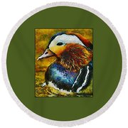 Duck Waddle Quack Round Beach Towel