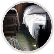 Round Beach Towel featuring the photograph Dudley Farmhouse Interior No. 1 by Lynn Palmer