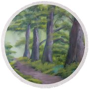 Duff House Path Round Beach Towel
