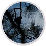 Round Beach Towel featuring the photograph Dusk by Joseph Yarbrough