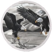 Eagles Round Beach Towel