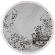 Eaters Round Beach Towel