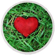 Eco Heart Round Beach Towel