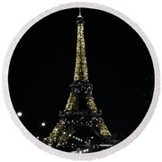 Eiffel Tower - Paris Round Beach Towel