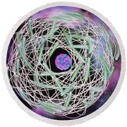 Electrons Orbiting Atom Round Beach Towel