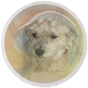Emily's Bonnet Round Beach Towel by Diana Haronis