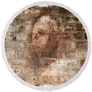 Round Beach Towel featuring the photograph Emotions- Self Portrait by Janie Johnson