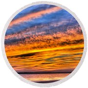 Endless Color Round Beach Towel