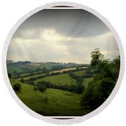 English Countryside Round Beach Towel by Priscilla Richardson