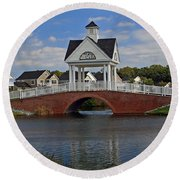 Round Beach Towel featuring the photograph Entrance by Karen Harrison