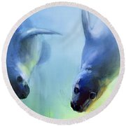 Equally Fascinating Round Beach Towel