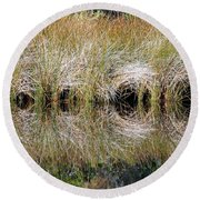 Round Beach Towel featuring the photograph Escape Hatches by Kay Lovingood