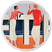 Ete Round Beach Towel