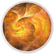 Eternal Flame - Abstract Art Round Beach Towel