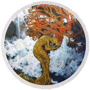 Eve Round Beach Towel