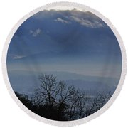 Evening At Grants Pass Round Beach Towel by Mick Anderson