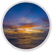 Evening Colors Round Beach Towel by Nick  Shirghio