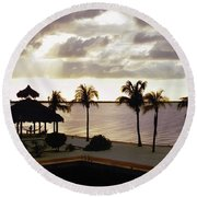 Evening In The Keys - Key Largo Round Beach Towel