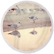 Evening Reflections Round Beach Towel
