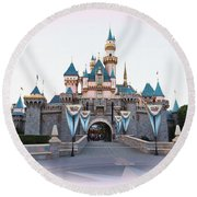Fairytale Castle Round Beach Towel