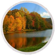 Fall In New York State Round Beach Towel