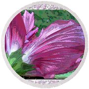Round Beach Towel featuring the digital art Fancy Finish by Debbie Portwood