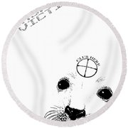 Fashion Victim Round Beach Towel