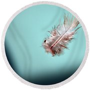 Feather Round Beach Towel