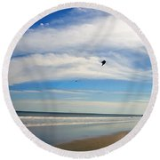 February Beach Round Beach Towel