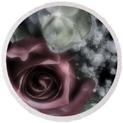 Round Beach Towel featuring the photograph Feel My Breath by Janie Johnson