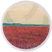 Fields Of Heaven Round Beach Towel by Leanna Lomanski