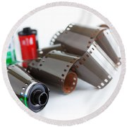 Film And Canisters Round Beach Towel
