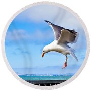 Final Approach - San Francisco Round Beach Towel