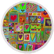 find U'r Love found    v15 Round Beach Towel