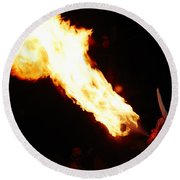 Fire Axe Round Beach Towel