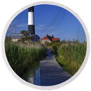 Fire Island Reflection Round Beach Towel