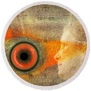 Fire Look Round Beach Towel