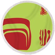 Round Beach Towel featuring the digital art Fire Spirit Cave by Kevin McLaughlin