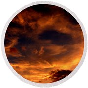 Firesky Round Beach Towel