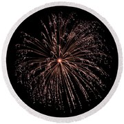Round Beach Towel featuring the photograph Fireworks 3 by Mark Dodd
