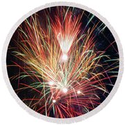 Fireworks One Round Beach Towel