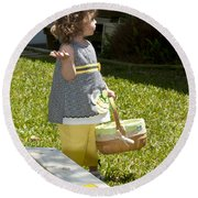 First Easter Egg Hunt Round Beach Towel