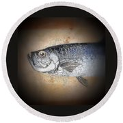 Round Beach Towel featuring the photograph Fish 2 by Andrew Drozdowicz