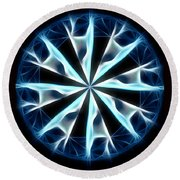 Flame In Tears Round Beach Towel