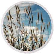 Flare To The Sky Round Beach Towel