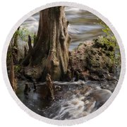 Round Beach Towel featuring the photograph Florida Rapids by Steven Sparks